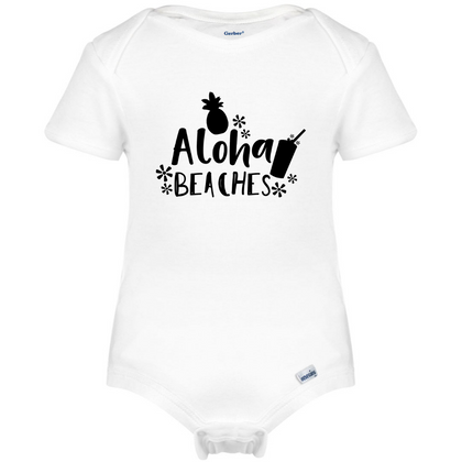 Aloha Beaches Baby Onesie®, Hipster Baby Clothes