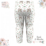 Boho Baby Clothes | Owl Floral Face Boho Baby Leggings!