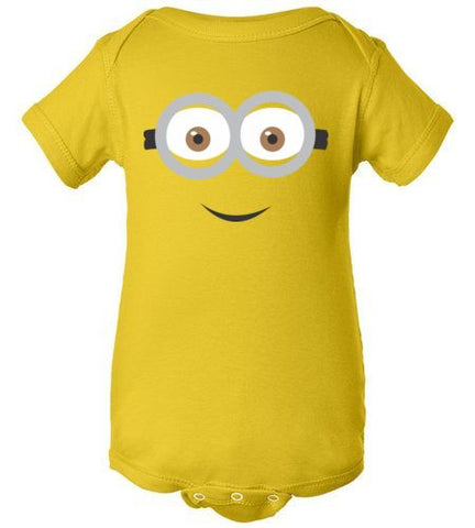 THE PARTY PROJECT | Minion baby bodysuit.