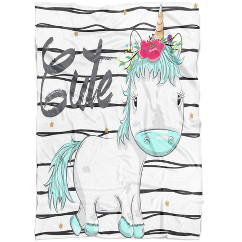 Baby Crib Bedding - Unicor Nursery - Girl Baby Bedding - Gift for Girl - Unicorn Baby Bedding - Watercolor Unicorn - Unicorn Blanket