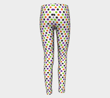 Colors Dots Youth Leggings - Girls Leggings  - Running Pants - Printed Leggings -Girls Clothing - Toddler Leggings - Girls Outfit - Halloween Party - Halloween Gift - Kids Leggings - Costume Pants - Halloween Clothes - Leggings for Girls - Cute Leggings -Best Leggings!