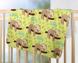 Just do It Slowly Baby Blanket | Slipping Sloth Nursery Decorations!