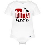 I'm Outta Here Onesie®, Camper Life Baby Clothes