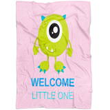 Pink Welcome Little One Baby Blanket | Baby Shower Gift!