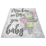 Fleece Baby Blanket - Receiving New Baby Blanket - Newborn Gift - Elephant Blanket for Baby Girl