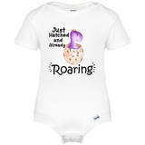 Just Hatched Baby Onesie®, Funny Dino Roaring Baby Clothes
