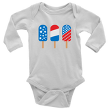 Ice Cream America Baby and Toddler Shirt, Patriotic Baby Clothes