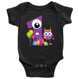 Monsters Baby Bodysuit | 1 Month or 1st Birthday Baby Onesie!