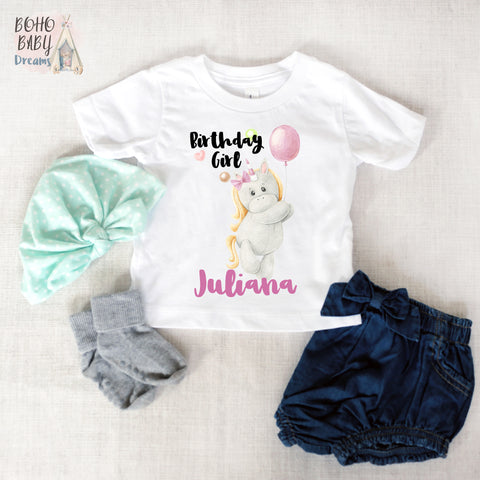 Personalized birthday shirt, Unicorn Girl Clothes!