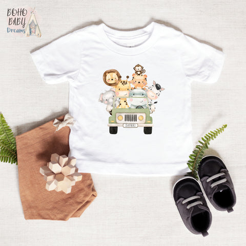 Safari Jeep Toddler and Baby Shirt, Safari Baby Clothes
