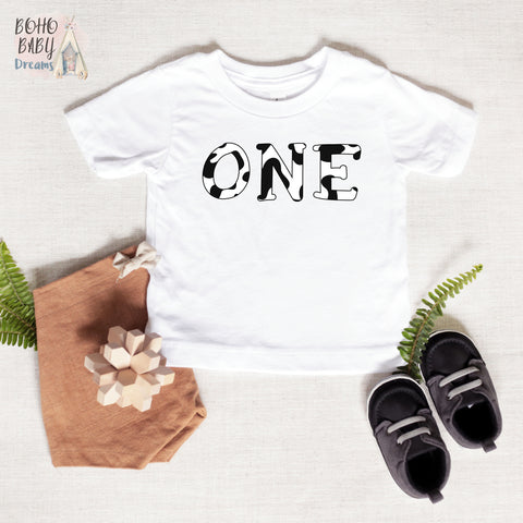 One Cow Baby T-Shirt, Farm Baby Clothes