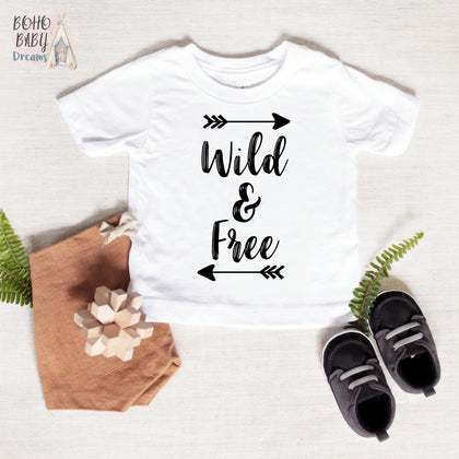 Wild and Free Shirt, Boho Baby Clothes