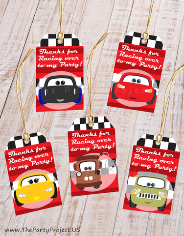 THE PARTY PROJECT | Cars thank you tags - party printables - Cars favor bag tags!