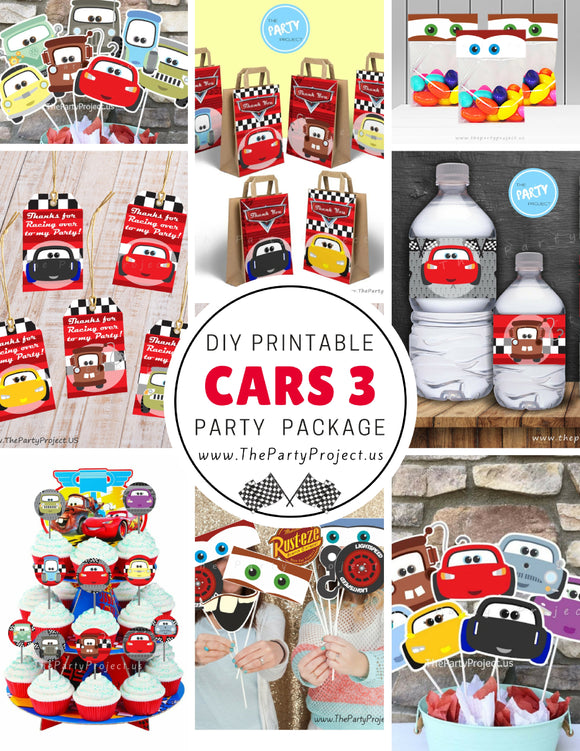 THE PARTY PROJECT | Cars 3 party printables | Cars birthday set / Kit fiestas imprimibles Cars