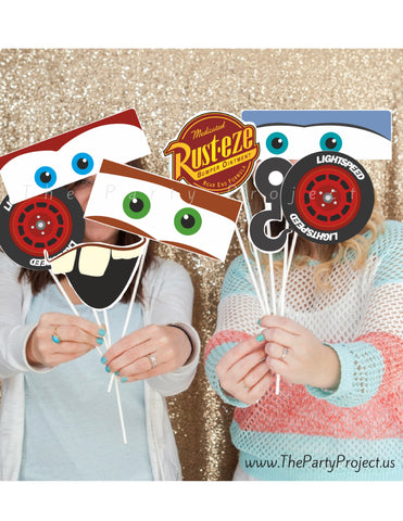 THE PARTY PROJECT | Cars photo props - Cars photo booth /// Props tematicos fiesta Cars!