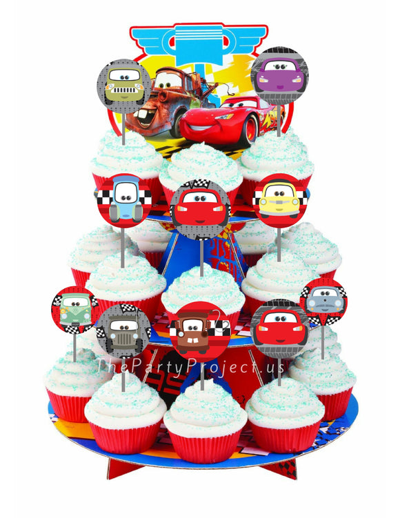 THE PARTY PROJECT | Cars cupcake toppers - cute party printables