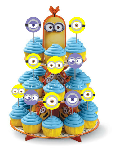 minion cupcake toppers | despicable me party printables