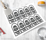The Party Project | Star Wars party printables - Darth Vader thank you tags | Imprimibles Star Wars
