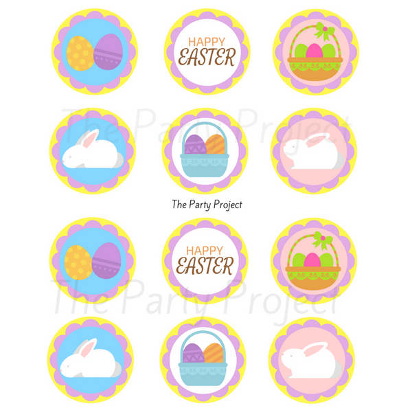 DIY Easter cupcake toppers | Spring party printables!