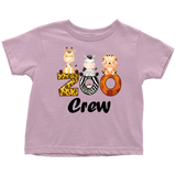 Zoo Crew Baby and Toddler shirt, Safari Baby Clothes