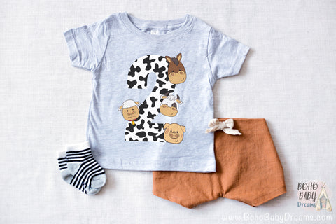 Barnyard baby t-shirt 2 years | Infant graphic tee | Farm 2nd birthday shirt