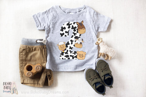 Barnyard Toddler T-shirt 2 years | Farm birthday clothes!