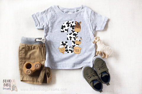 Barnyard Kids T-shirt 3 years | Farm birthday clothes!