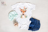 Boho Baby Clothes | Feather Deer Face Boho Baby Bodysuit!