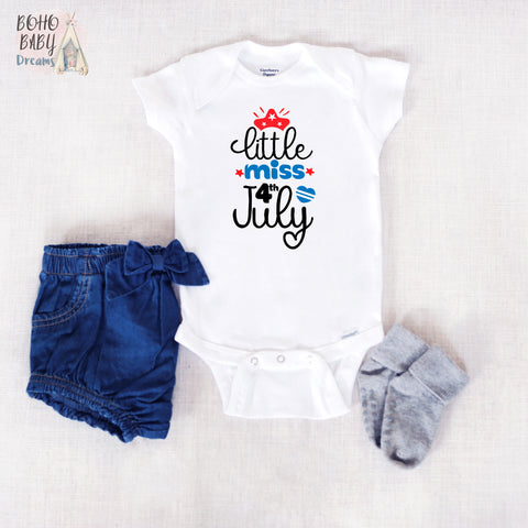 Little Miss 4th July Onesie®, Patriotic Baby Clothes