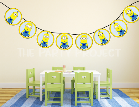 Minions garland | despicable me party printables!