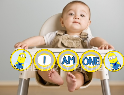 "DIY PRINTABLE Minions ""I AM ONE' Banner 