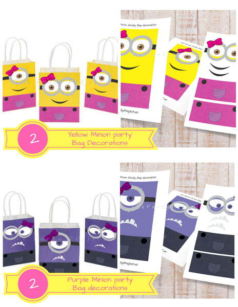 THE PARTY PROJECT | Girly minion party favor bags!