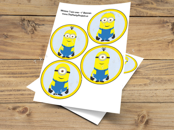 Minion high chair banner | despicable me party printables | Minions first birthday!