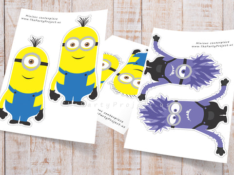 Minion centerpieces | despicable me party printables - imprimibles fiesta minions