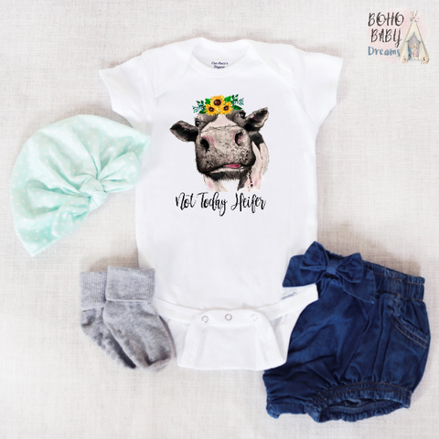 No Today Heifer Baby Onesie®, Farm Baby Clothes