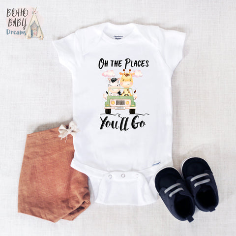 Oh The Places You'll Go Baby Onesie®, Safari Baby Clothes