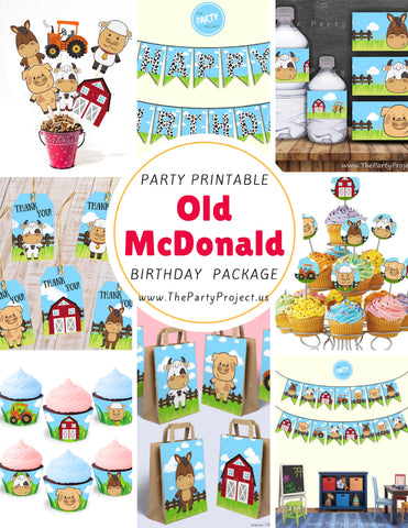 Sale* DIY PRINTABLE Barnyard party package | Farm birthday kit!