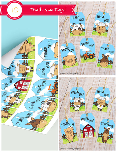 farm birthday package | barnyard party set - printable party decorations