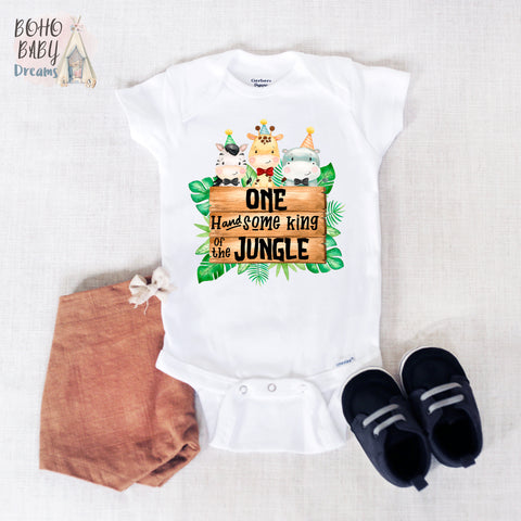 One Handsome King of the Jungle Baby Onesie®, Safari Baby Clothes