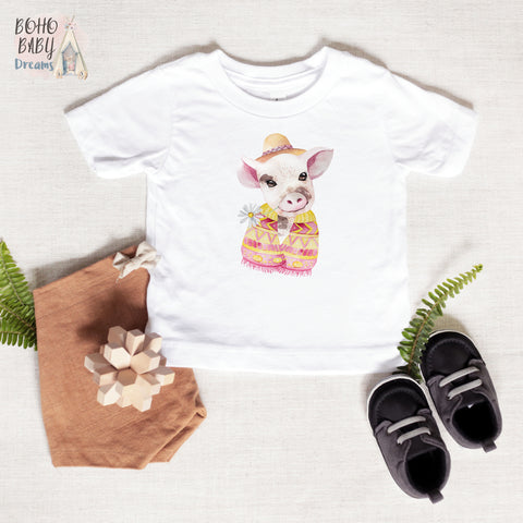 Cute Pig Baby and Toddler T-shirt, Farm Baby Clothes