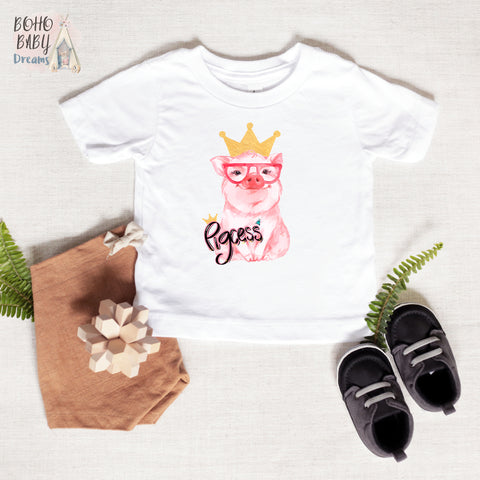 Pigcess Baby and Toddler T-Shirt, Farm Girl Baby Clothes