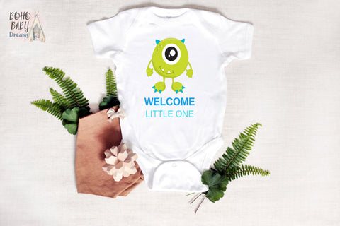 Welcome little one Baby Bodysuit | Monsters New baby | Baby Shower Gift!