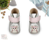 Boho Owl Baby Shoes, Girl Woodland Baby Booties