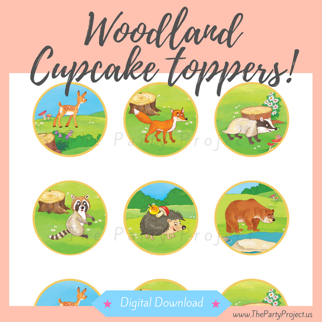 woodland cupcake wrappers | forest party printables