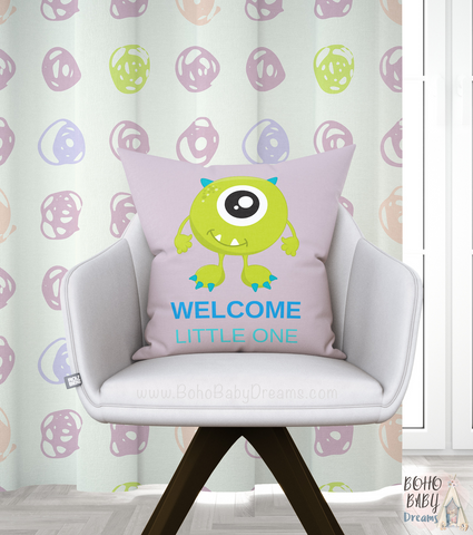 Pink Welcome Little one pillow |  Newborn Gift!