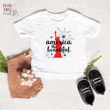America the Beautiful Baby and Toddler Shirt, Patriotic Baby Clothes