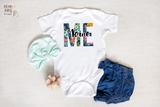 Maine Baby Bodysuit, Floral State Boho Baby Clothes