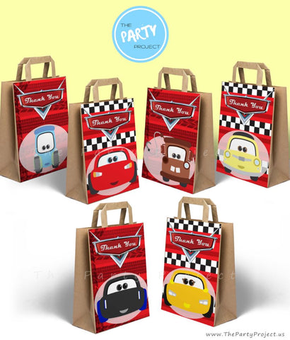 THE PARTY PROJECT | Cars printable party bag cover | favor bag decorations - party printables!