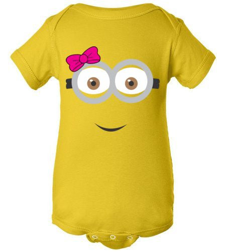 THE PARTY PROJECT | Girly minion baby clothing