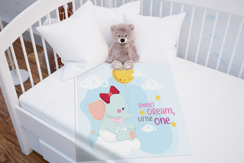 Sweet Dream Little One Baby Blanket | Elephant Baby Shower Gift!